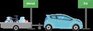 Bil med släpvagn