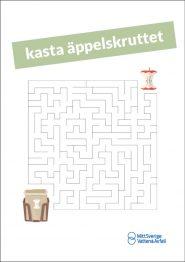 Labyrint: släng skruttet i bruna påsen