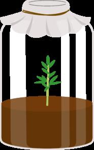 Illustration av en glasburk med kretslopp